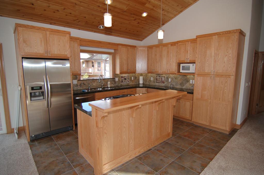 Red oak kitchen